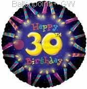 FOBM045-5011E 30ter Birthday-Candle Folienballon