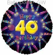 FOBM045-5012E 40ter Birthday-Candle Folienballon