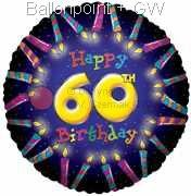 FOBM045-5014E 60ter Birthday-Candle Folienballon