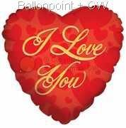 FOHM045-5034E Herz Liebe in Gold Folienballon