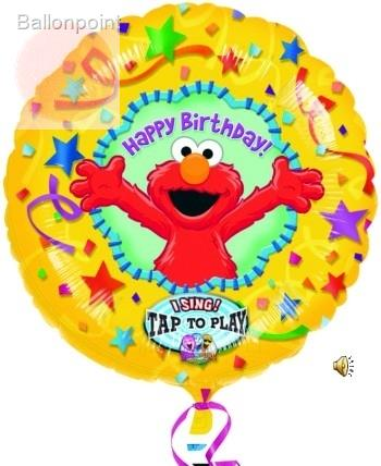 "FOBM072-12648PL 72cm(28"") Singing Balloon Sesam Street - Happy Birthday"