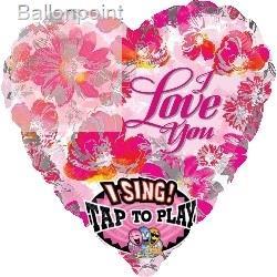 "FOHM090-252322601 Herz-Folienballon, breite 71cm (28"") -I love you -"