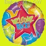 "FOBM045-07076  Folienballon Round 45cm  (18"") Motiv Star,  price per ea"