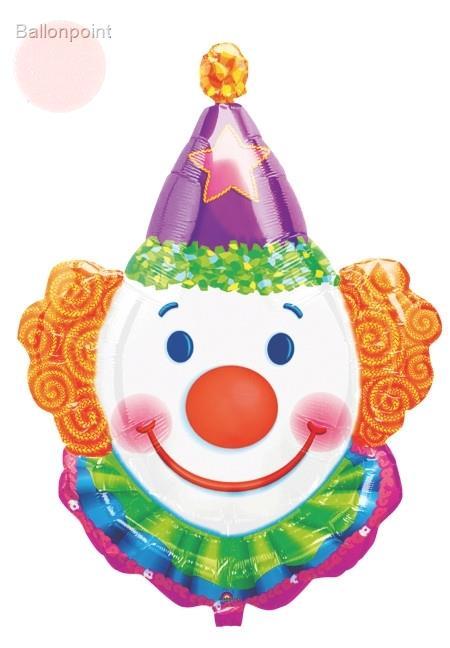 FOBF083-07661A Folienballon, Juggles Clown Kopf 63x83cm (25x33in), SB verpackt