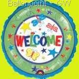 "FOBM045-08432  Folienballon Round 45cm  (18"") Motiv Star,  price per ea"