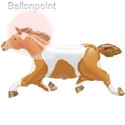 """FOBF104-08937E Pferd 100cm(41""""x23"""") braun/weiss, Folienballon ohne Metallbeschichtung"""