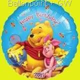 """FOBM045-09232E Geburtstags Folienballon Rund 45cm  (18"""")"""