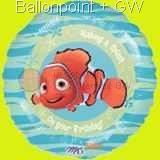 "FOBM045-09233E Finding Nemo on you Birthday Folienballon Ballongröße Ø45cm (18""), price per ea"