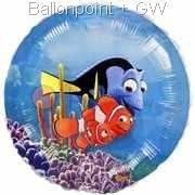 """FOBM056-09234E Finding Nemo, See Thru Front - Folienballon Ballongröße Ø56cm (22"""")"""