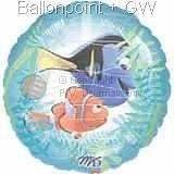 """FOBM061-09491E Finding Nemo, See Thru Front - Folienballon Ballongröße Ø61cm (24"""")"""