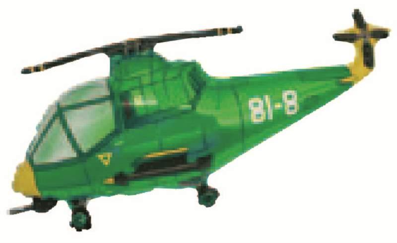 """FOBF103-103485F  Hubschrauber in Grün Folienballon (29""""), Artikel Kategorie E F090"""