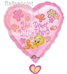 "FOBF086-10469-01E Folienfigurenballon  Tweety Drop-A-Line 61x86cm(21x34"") Looney Tunes"