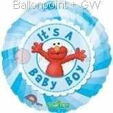 """FOBM045-10672E  Folienballon Rund 45cm  (18"""") , für Luft und Ballongasbefüllung geeignet"""