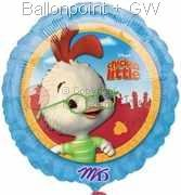 FORM045-10710E  Chicken Little Folienballon Ø45cm