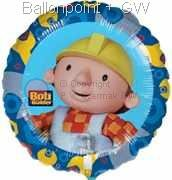 FOBM045-811487E Bob the Builder Folienballon, Bob der Arbeiter