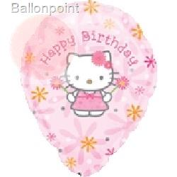 FOBM045-12532E Hello Kitti - Birthday Floral, Folienballon Ø45cm