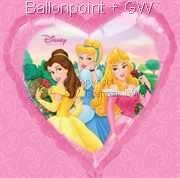 FOHM045-13141E Herz-Folienballon Disney Princess 45cm