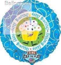 "FOBM072 72cm(28"") Happy Birthday Capcake Sing-A-Tune Balloon"