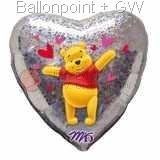 "FOBH045-14783E  Heart Foilballoon Love 18"" 45cm Holographic balloon, preice per ea"