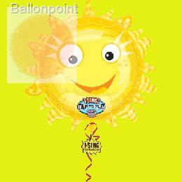"FOBM074-16525PL 74cm(29"") Singing Balloon Sonne singt Best Wishes"