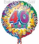 FOBM045-30391E Folienballon Happy Birthday 40