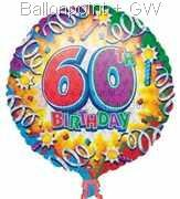FOBM045-30393E Folienballon Happy Birthday 60