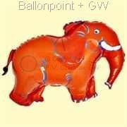 FOBF086-032006G  Elefant Figuren-Folienballon 86m (34inch) , Artikel Kategorie F090