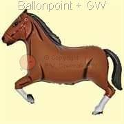 FOBF092-032174G  Pferd braun Figuren-Folienballon 92cm (36inch) , Artikel Kategorie N F090