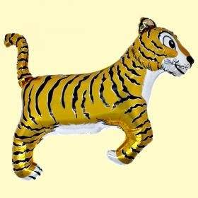 Tiger Gold  Figuren-Folienballon, Form E  ArtKat  F311