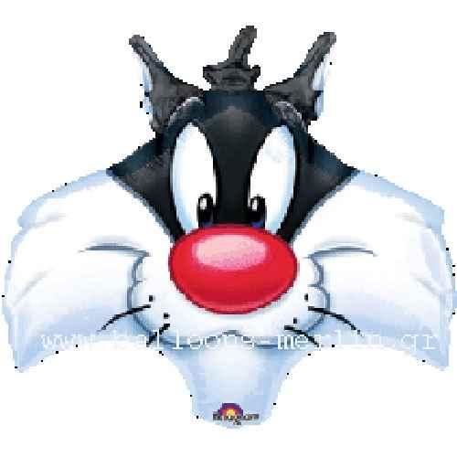 FOBF053-32725A Folienballon, Sylvester Head 53cm