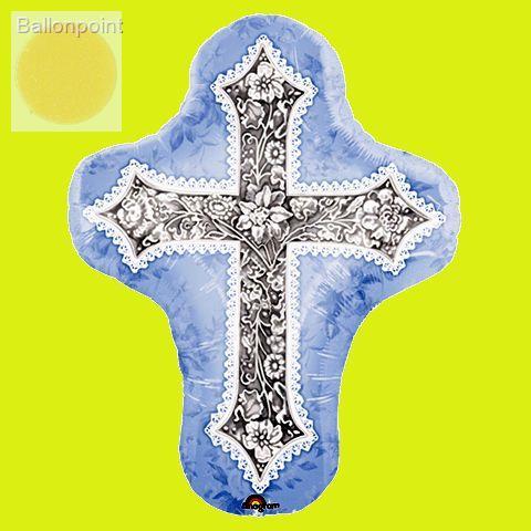 FOBF071-33601A Religiöser Folienballon, Motiv Kreuz  59x71cm (23x28in), SB verpackt