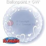 B061-505 Deco-Bubbles Stylish Floating Hearts, Strechy Plastic Balloon, price per ea