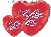 "FOBM091-4090604BA Motivherzballon 91cm(36"") print with - I love You - price per piece"