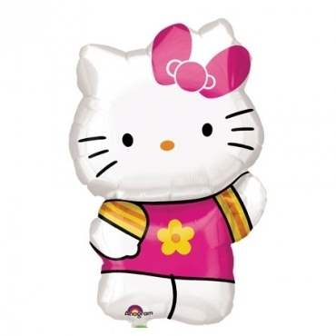 (#) Hello Kitty Summer Kitty II, Shape Form II Art.Kat. F322  Metallic Foilballoons