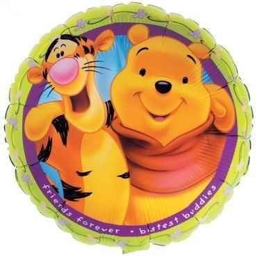 "Tigger&Pooh Friends..18"", M 18inch Rund Metallic Folienballon Ø45cm, in SB-Verpackung Art.Kat. F314"