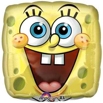 "Sponge Bob Smile 18"", M 18inch Metallic Folienballon Ø45cm"