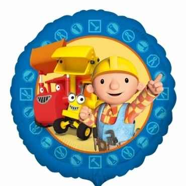 "Bob the Builder rund 18"", M 18inch Rund Metallic Folienballon Ø45cm, in SB-Verpackung Art.Kat. F314"