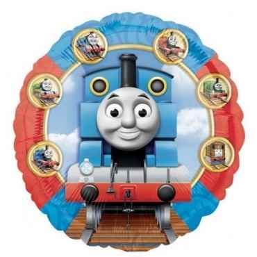 "Thomas & Friends 18"", M 18inch Rund Metallic Folienballon Ø45cm, in SB-Verpackung Art.Kat. F314"