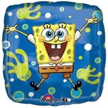 "Sponge Bob Quadrat 18"", M 18inch Metallic Folienballon Ø45cm"