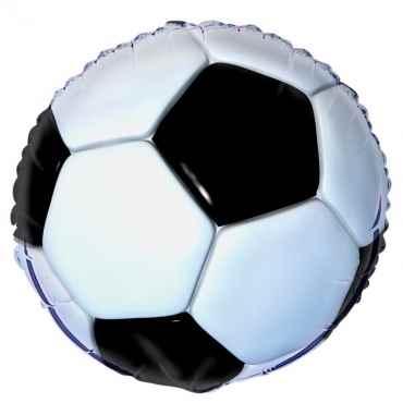 "Fußball 18"", M 18inch Rund Metallic Folienballon Ø45cm, in SB-Verpackung Art.Kat. F314"