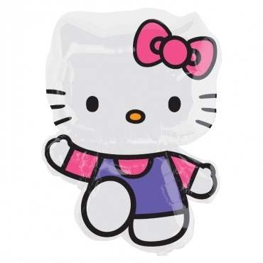 (#) Hello Kitty Pink & Purple II, Shape Form II Art.Kat. F322  Metallic Foilballoons