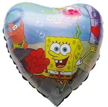 "(#) Sponge Bob 18"", M 18inch Metallic Folienballon Ø45cm"