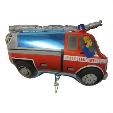 (#) Feuerwehrauto II, Shape Form II Art.Kat. F322  Metallic Foilballoons