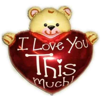 Love Bär U Herz-Folienfigurballon Jumbo Shape