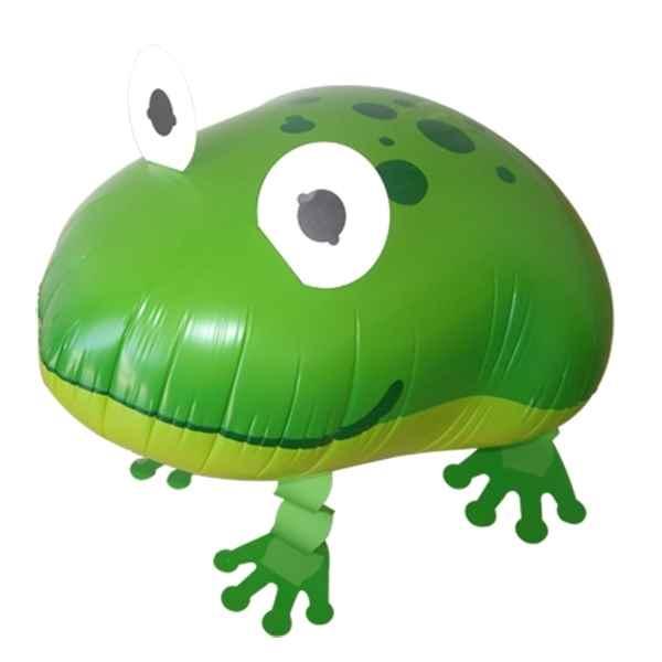 Frosch Airwalker, Frosch 45cm groß, laufender Frosch Folienballon ungefüllt und unverpackt. Art.Kat F400