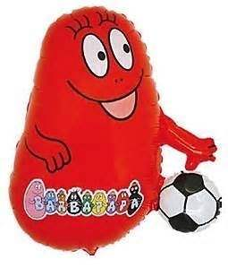 (#) Barbapapa Fußball rot II, Folien Form II Art.Kat. F322