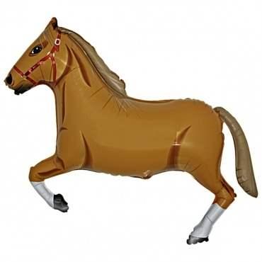 Pferd braun, Figuren-Folienballon, Form E  ArtKat  F311
