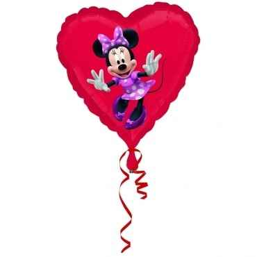 "(#) Minnie Dancing 18"", M 18inch Rund Metallic Folienballon Ø45cm, in SB-Verpackung Art.Kat. F323"