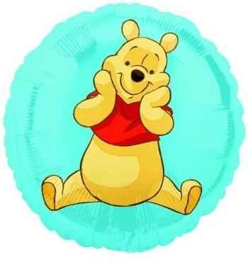 "(#) Pooh Rund 18"", M 18inch Metallic Folienballon Ø45cm"