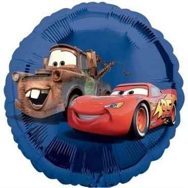 "(#) Cars blau 18"", M 18inch Rund Metallic Folienballon Ø45cm, in SB-Verpackung Art.Kat. F323"